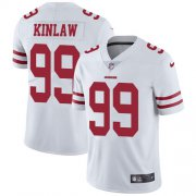 Wholesale Cheap Nike 49ers #99 Javon Kinlaw White Men's Stitched NFL Vapor Untouchable Limited Jersey