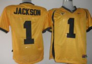 Wholesale Cheap California Golden Bears #1 Jackson Yellow Jersey