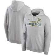 Wholesale Cheap Oakland Athletics Nike Color Bar Club Pullover Hoodie Gray