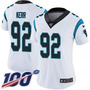 Wholesale Cheap Nike Panthers #92 Zach Kerr White Women's Stitched NFL 100th Season Vapor Untouchable Limited Jersey