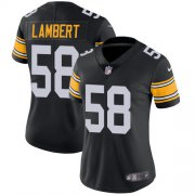 Wholesale Cheap Nike Steelers #58 Jack Lambert Black Alternate Women's Stitched NFL Vapor Untouchable Limited Jersey