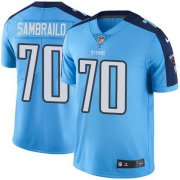 Wholesale Cheap Nike Titans #70 Ty Sambrailo Light Blue Youth Stitched NFL Limited Rush Jersey