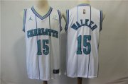 Wholesale Cheap Nike Hornets 15 Kemba Walker White NBA Jordan Throwback Swingman Jersey