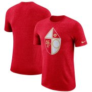 Wholesale Cheap San Francisco 49ers Nike Marled Historic Logo Performance T-Shirt Heathered Red