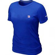 Wholesale Cheap Women's Nike New York Giants Chest Embroidered Logo T-Shirt Blue