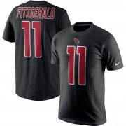 Wholesale Cheap Nike Arizona Cardinals #11 Larry Fitzgerald Color Rush 2.0 Name & Number T-Shirt Black