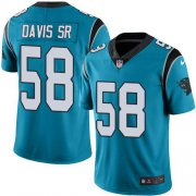Wholesale Cheap Nike Panthers #58 Thomas Davis Sr Blue Men's Stitched NFL Limited Rush Jersey
