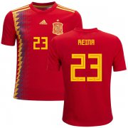 Wholesale Cheap Spain #23 Reina Red Home Kid Soccer Country Jersey
