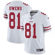 Wholesale Cheap Nike 49ers #81 Terrell Owens White Men's Stitched NFL Vapor Untouchable Limited Jersey
