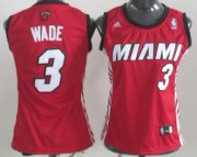 Wholesale Cheap Miami Heat #3 Dwyane Wade Red Womens Jersey