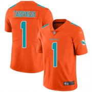 Wholesale Cheap Nike Dolphins #1 Tua Tagovailoa Orange Men's Stitched NFL Limited Inverted Legend Jersey