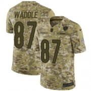 Wholesale Cheap Nike Bears #87 Tom Waddle Camo Men's Stitched NFL Limited 2018 Salute To Service Jersey