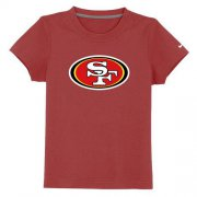 Wholesale Cheap San Francisco 49ers Sideline Legend Authentic Logo Youth T-Shirt Red
