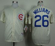 Wholesale Cheap Cubs #26 Billy Williams Cream 1969 Turn Back The Clock Stitched MLB Jersey