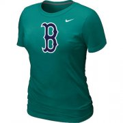 Wholesale Cheap Women's MLB Boston Red Sox Heathered Nike Blended T-Shirt Light Green