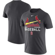 Wholesale Cheap St. Louis Cardinals Nike Practice Performance T-Shirt Anthracite
