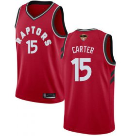 Wholesale Cheap Raptors #15 Vince Carter Red 2019 Finals Bound Basketball Swingman Icon Edition Jersey