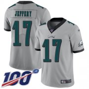 Wholesale Cheap Nike Eagles #17 Alshon Jeffery Silver Men's Stitched NFL Limited Inverted Legend 100th Season Jersey