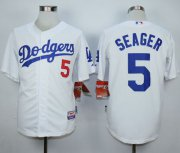 Wholesale Cheap Dodgers #5 Corey Seager White Cool Base Stitched MLB Jersey