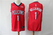 Wholesale Cheap Pelicans 1 Zion Williamson Red Nike Swingman Jersey
