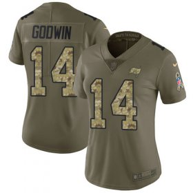 Wholesale Cheap Nike Buccaneers #14 Chris Godwin Olive/Camo Women\'s Stitched NFL Limited 2017 Salute To Service Jersey
