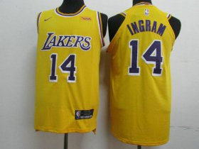 Wholesale Cheap Lakers 14 Brandon Ingram Gold 2018-19 Nike Authentic Jersey