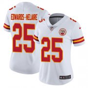Wholesale Cheap Nike Chiefs #25 Clyde Edwards-Helaire White Women's Stitched NFL Vapor Untouchable Limited Jersey