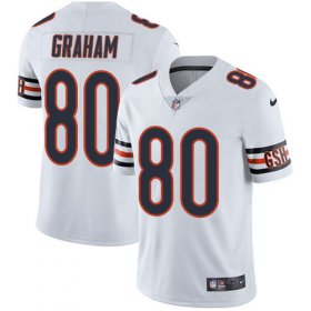 Wholesale Cheap Nike Bears #80 Jimmy Graham White Men\'s Stitched NFL Vapor Untouchable Limited Jersey
