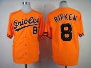 Wholesale Mitchell And Ness 1989 Orioles #8 Cal Ripken Orange Throwback Stitched Baseball Jersey