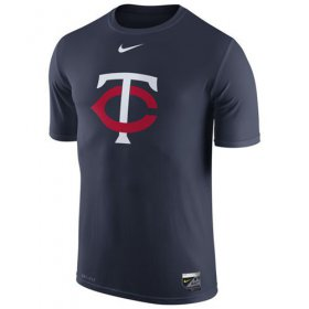 Wholesale Cheap Minnesota Twins Nike Authentic Collection Legend Logo 1.5 Performance T-Shirt Navy