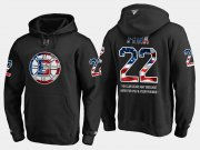 Wholesale Cheap Bruins #22 Brad Park NHL Banner Wave Usa Flag Black Hoodie