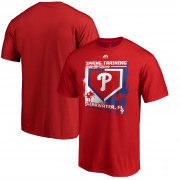 Wholesale Cheap Philadelphia Phillies Majestic 2019 Spring Training Base On Ball T-Shirt Red