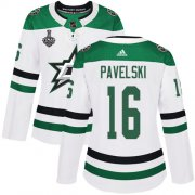 Cheap Adidas Stars #16 Joe Pavelski White Road Authentic Women's 2020 Stanley Cup Final Stitched NHL Jersey