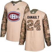 Wholesale Cheap Adidas Canadiens #24 Phillip Danault Camo Authentic 2017 Veterans Day Stitched Youth NHL Jersey