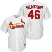 Wholesale Cheap Cardinals #46 Paul Goldschmidt White New Cool Base Stitched MLB Jersey