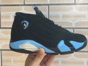 Wholesale Cheap Air Jordan 14 Retro Shoes Black/blue-white