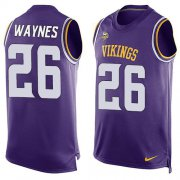 Wholesale Cheap Nike Vikings #26 Trae Waynes Purple Team Color Men's Stitched NFL Limited Tank Top Jersey