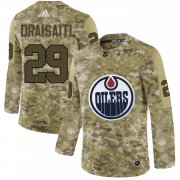 Wholesale Cheap Adidas Oilers #29 Leon Draisaitl Camo Authentic Stitched NHL Jersey