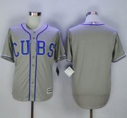 Wholesale Cheap Cubs Blank Grey Alternate Road New Cool Base Stitched MLB Jersey