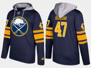 Wholesale Cheap Sabres #47 Zach Bogosian Blue Name And Number Hoodie