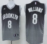 Wholesale Cheap Brooklyn Nets #8 Deron Williams Black/White Resonate Fashion Jersey