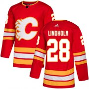 Wholesale Cheap Adidas Flames #28 Elias Lindholm Red Alternate Authentic Stitched Youth NHL Jersey