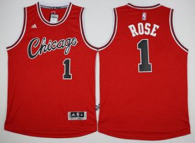 Wholesale Cheap Men\'s Chicago Bulls #1 Derrick Rose Revolution 30 Swingman 2015-16 Retro Red Jersey