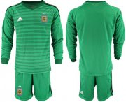 Wholesale Cheap Argentina Blank Green Long Sleeves Goalkeeper Soccer Country Jersey