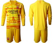 Wholesale Cheap Roma Blank Yellow Goalkeeper Long Sleeves Soccer Club Jersey