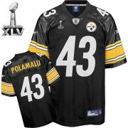 Wholesale Cheap Steelers #43 Troy Polamalu Black Super Bowl XLV Stitched NFL Jersey