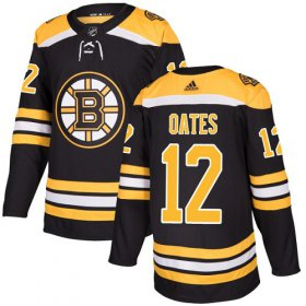 Wholesale Cheap Adidas Bruins #12 Adam Oates Black Home Authentic Stitched NHL Jersey