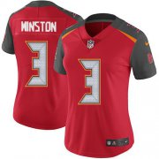 Wholesale Cheap Nike Buccaneers #3 Jameis Winston Red Team Color Women's Stitched NFL Vapor Untouchable Limited Jersey
