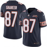 Wholesale Cheap Nike Bears #87 Adam Shaheen Navy Blue Team Color Men's 100th Season Stitched NFL Vapor Untouchable Limited Jersey