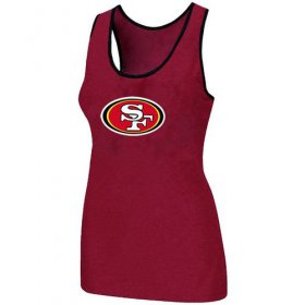 Wholesale Cheap Women\'s Nike San Francisco 49ers Big Logo Tri-Blend Racerback Stretch Tank Top Red